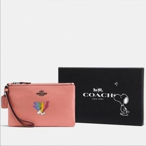 Coach small Wristlet With Snoopy